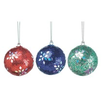 Christmas Tree Ornaments Balls, Hanging Colored Home Decor Ornaments - $33.99