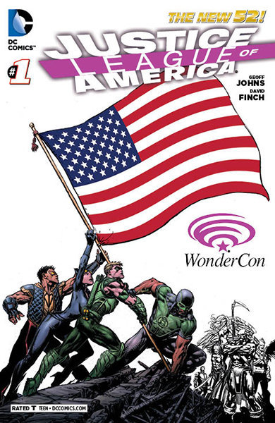 WonderCon 2013 Justice League Of America #1 Exclusive Variant Cover The New 52