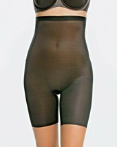SPANX 10080R Skinny Britches High-Waisted Mid-Thigh Short Very Black ( XL ) - $99.97