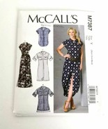 McCalls M7387 Shirt Dress Size XS S M Long Shirt Tails Dress Shirtdress - $14.99