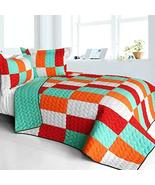 [Kaleidoscope] 3PC Vermicelli - Quilted Patchwork Quilt Set (Full/Queen ... - $100.97