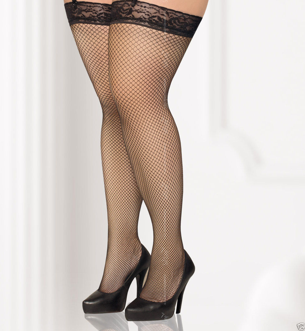cfbba04c5e4 fishnet stockings Hold Ups plus size 4XL 5XL UK 14 16 18 EU 46 48 50