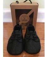 Sweet N Swag Moxford Moccasins Size 3 baby infant black vegan leather NI... - $14.82