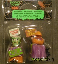 Halloween Lemax Spooky Town Village Trick Or Treat Containers Set of 2 F... - $2.99