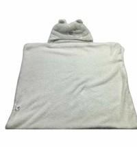 Blankets & Beyond Baby Hoodie Blanket 24x27 White Polar Bear Soft - $36.37