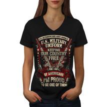 USA Military Shirt Army America Women V-Neck T-shirt - $12.99+