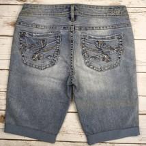 Silver J EAN S Shorts Buckle Mid Rise Aiko Light Jean Denim Short 28 - $17.85