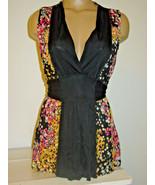 M Missoni Black Yellow Pink Gray Polka Dot Tunic Top Tie Back Made Italy... - $90.17