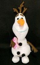 "Disney Frozen Olaf Snowman Pink Valentine Heart Plush Stuffed TY Toy 8"" - $9.89"