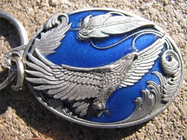 VTG Keychain Keyring FOB Pewter Licensed EAGLE FLY HIGH Touch great spir... - $29.68