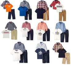 Infant & Toddler Boy's Nautica 3-Piece Pant Set with Woven Shirt, Tee, Pants NEW