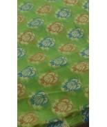 chanderi silk fabric Jari work all over Dress fabric craft decor 1 yard - $17.87