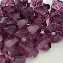 Swarovski 5301/5328 10mm Amethyst Bicone Beads Sold in Qty's of 5  (Lot ... - $7.50