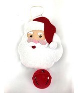 Santa With Jingle Bell Decorative Door Wall Hanging - $10.00