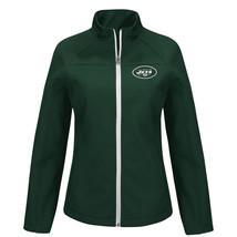 NWT $80 NFL Women's Soft Shell Jacket - NY Jets Green white Zipper size ... - $13.99
