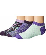 Nike Girl's 3 Pack Graphic Lightweight Cotton No Show Sock SX5266-901 - $15.99