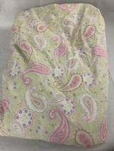 Pottery Barn Kids Full Queen Duvet Cover Paisley w/ Pink Accents - $19.79