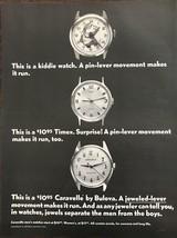 ORIGINAL 1968 Bulova Caravelle Wristwatch Ad Separate Men Boys Double En... - $11.69