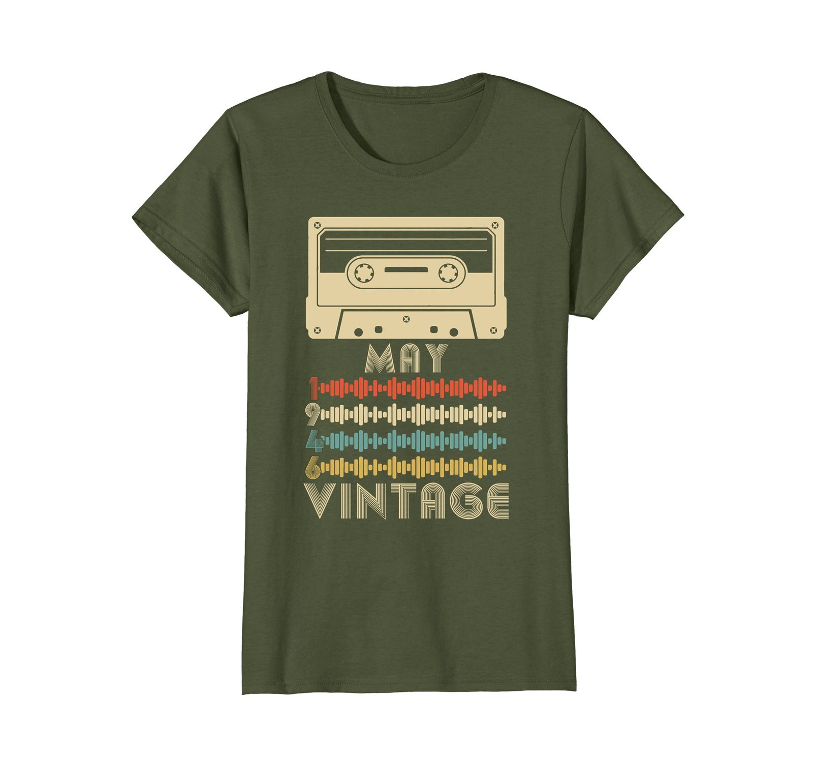 Funny Shirts - Vintage Retro Made In May 1946 72nd Birthday Gift 72 yrs old Wowe image 2