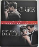 Fifty Shades of Grey / Fifty Shades Darker Steelbook [Blu-ray]  - $12.95