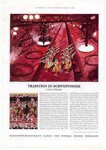 Schweppes Schweppshire 1963 Ad George Him Artist Ceremony of the Keys Lo... - $14.99