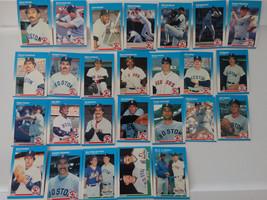 1987 Fleer Boston Red Sox Team Set of 26 Baseball Cards - $6.00