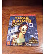 Tomb Raider III Prima Official Strategy Guide Book, Kip Ward, for PC Pla... - $6.95