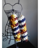 Crochet Multi Color Spiral Earrings - $5.00