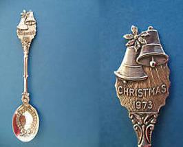 CHRISTMAS 1973 Souvenir Collector Spoon Collectible BELLS WREATH - $6.95