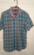 Alfanti NY mens pre-owned slim fit button down blue multi-color  shirt size M - $4.00