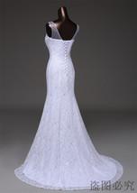 Lace floral mermaid Wedding Dress at Bling Brides Bouquet Online Bridal Store image 9