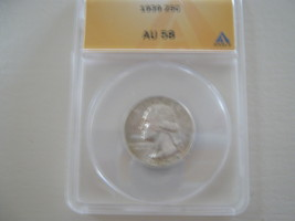 Washington Quarter  ,  ANACS Certfifed , 1939  - $19.00