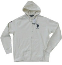 U.S.Polo Assn Men's BIG LOGO ZIP HOODIE , White , Medium - $39.59
