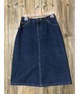 Vintage Lee Riders jean denim skirt retro size 11 1990's western Msres 2... - $22.76