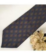 Calvin Klein Blue & Brown Diamond print silk men's business Tie - $19.95