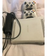 Xbox 360 White Console Only For Parts/Repair W/60gb Hard Drive , Door Wo... - $44.00