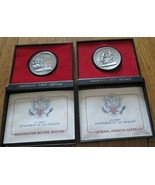 America's First Medals U.S. Mint Pewter Metal 6 Medal Washington Lee Gat... - $44.90