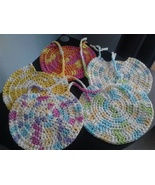 Crochet Baby Bibs/Variety of Colors/set of 5 - $30.00