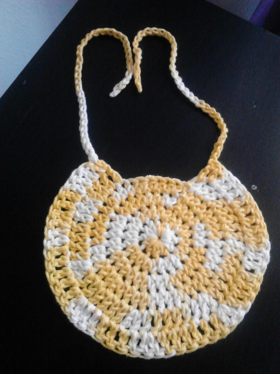 Handmade Crochet Baby Bibs/Variety of Colors/set of 5