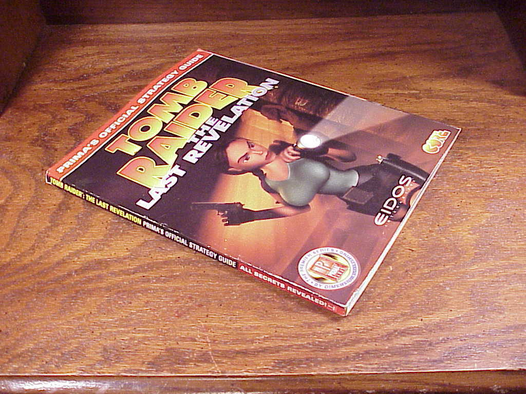 Tomb Raider The Last Revelation Prima Official Strategy Guide Book, for PC