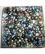New 100pc Freshwater pearls Bead Mix Jewelry Supplies Blue /silver/gray... - $7.91