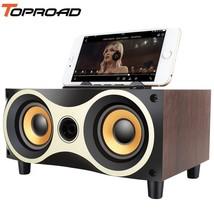 TOPROAD® Wooden Wireless Bluetooth Speaker Subwoofer Stero Desktop Speakers - $43.31