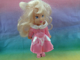Disney Mini Aurora Sleeping Beauty Doll with Dress & Pink Sandals - as is - $5.89