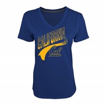 Champion NCAA Cal State Women's Navy Heather Jersey V-Neck T-Shirt Size M - $19.80