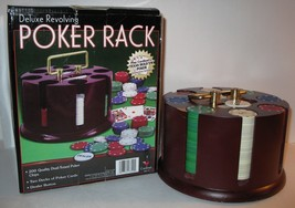 CARDINAL DELUXE REVOLVING POKER RACK CAROUSEL W/CHIPS/CARDS/DEALER BUTTO... - $4.99