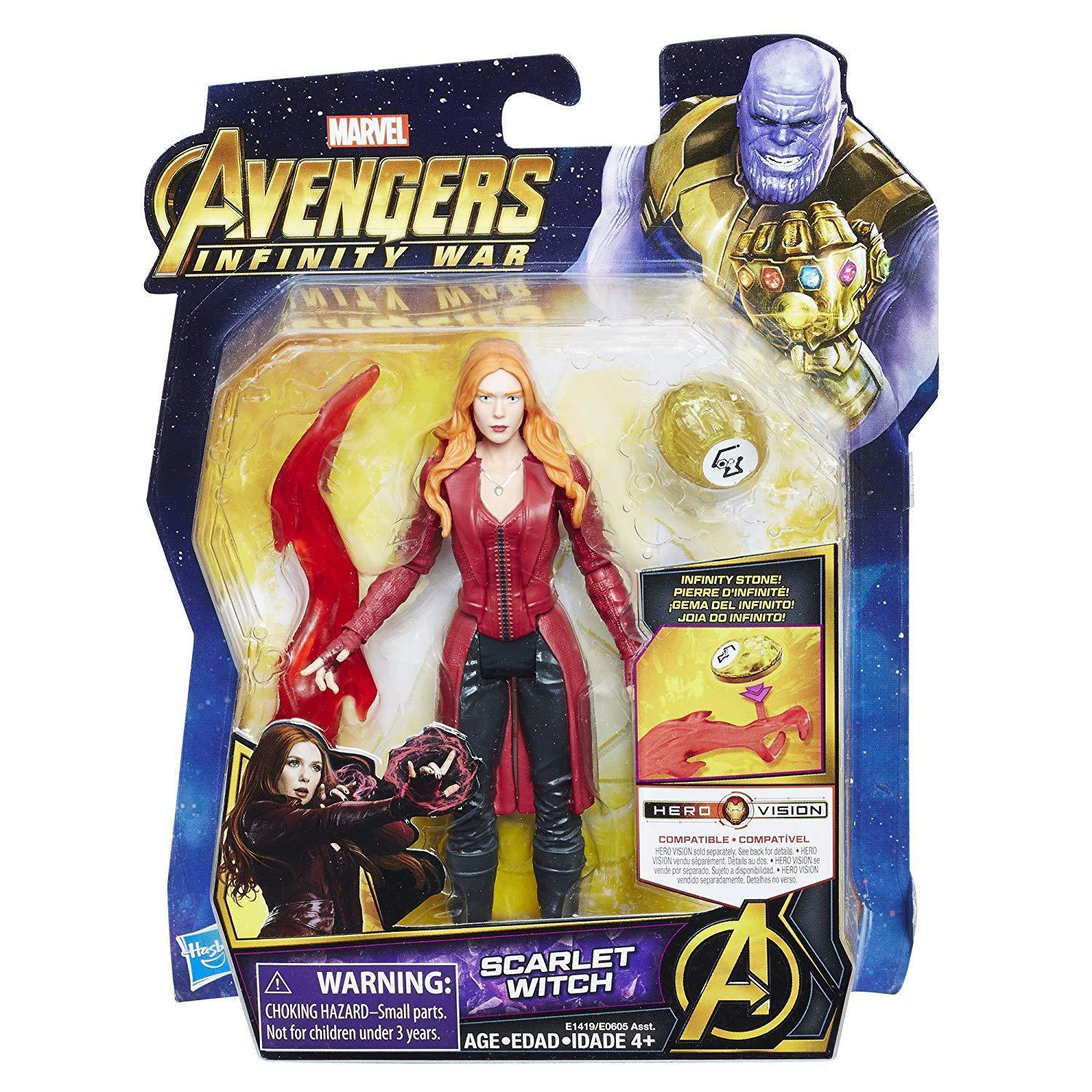 Marvel Avengers:hasbro Infinity War Scarlet Witch with Infinity Stone