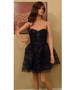 NWT BETSEY JOHNSON Black Tulle Strapless Dress Size 4 NEW (MAKE AN OFFER) - $197.01