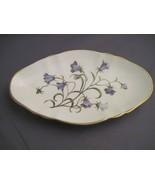 Spode china Campanula purple flower snack or nut dish - $50.00