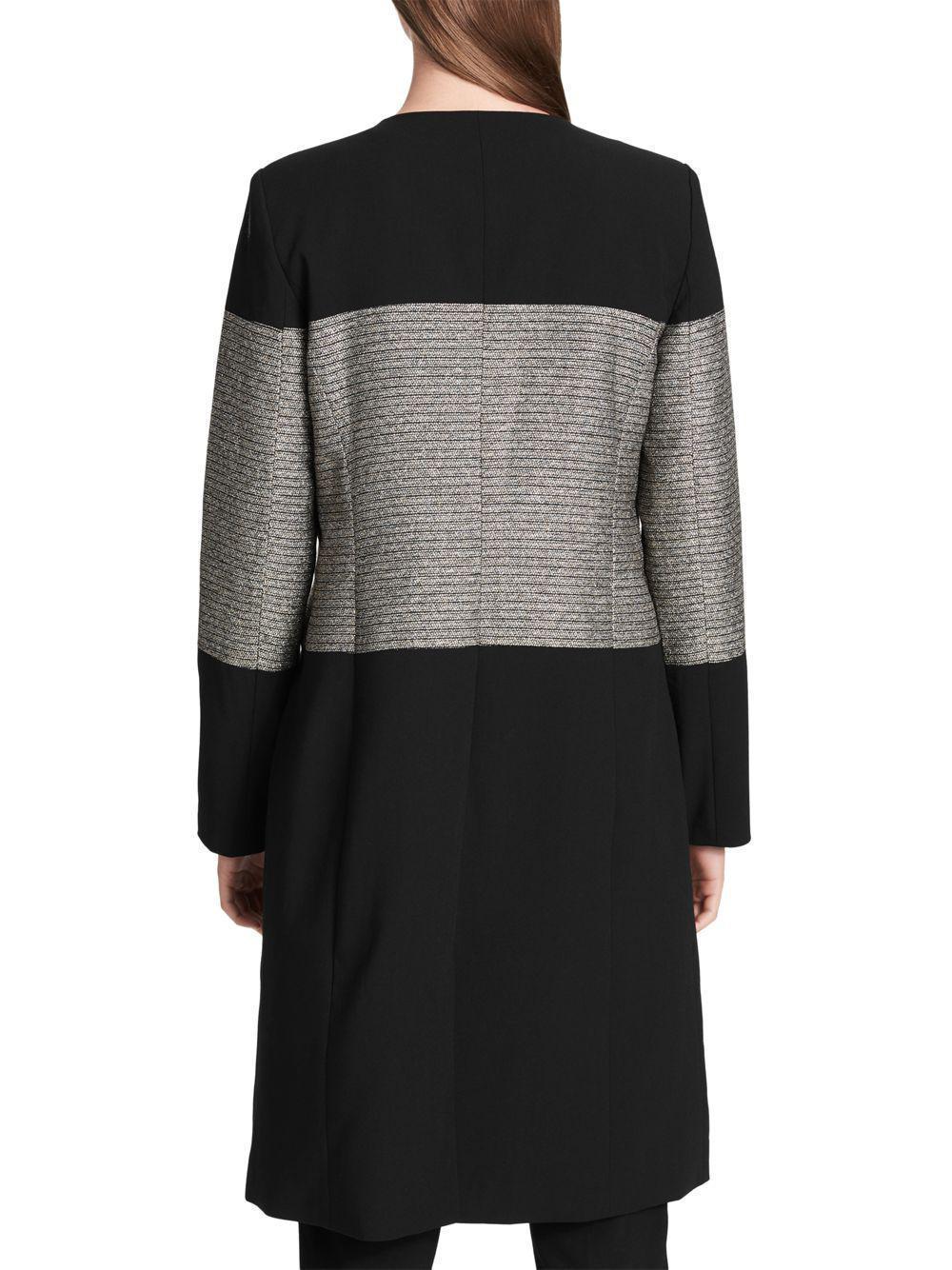 New Calvin Klein Women Open Front Glitter Accented Topper Jacket Blk Variety Szs