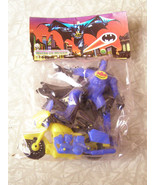 "Blue Batman 4"" Action Figure With Motorcycle Mexican New - $16.00"